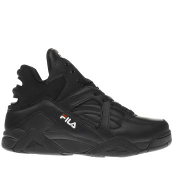 Fila Black Cage Mid Womens Trainers