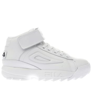 Fila White D/2 Mid Womens Trainers
