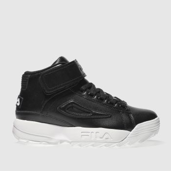 Fila Black D/2 Mid Womens Trainers
