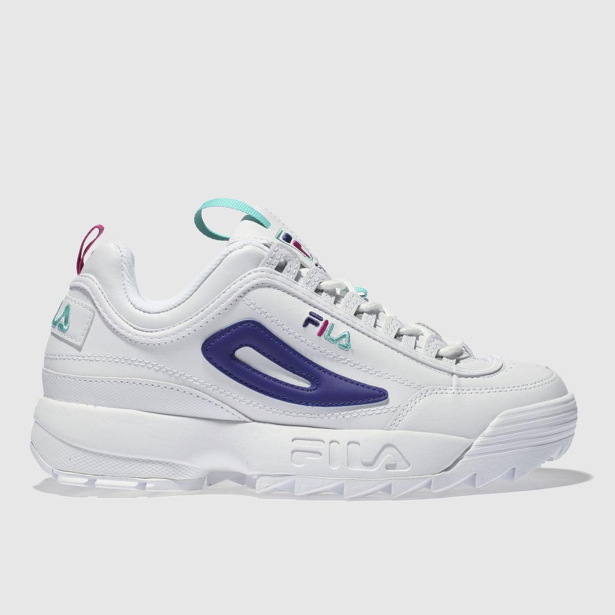 Fila Fila White & Purple Disruptor Ii Premium L Trainers