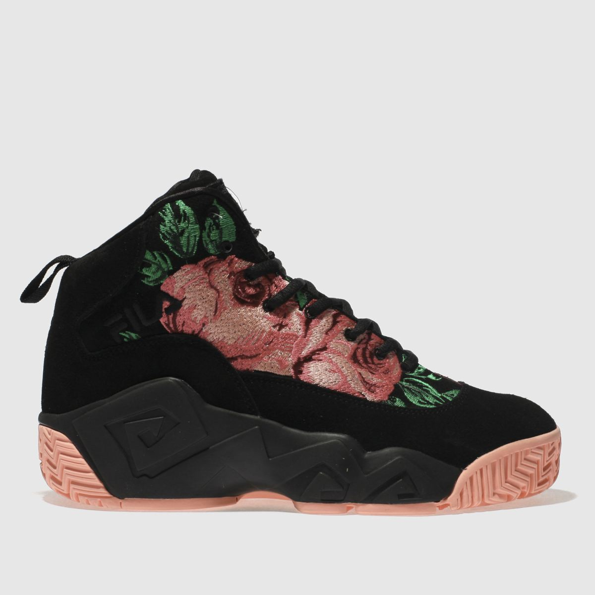 Fila Black & Pink Mb Embroidery Trainers