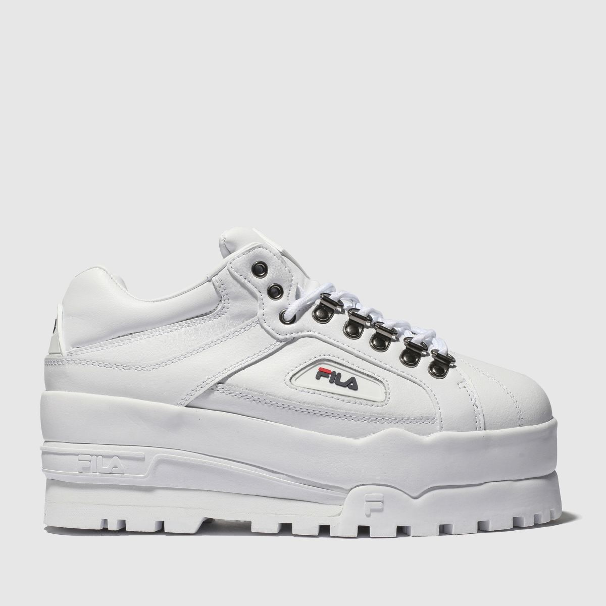 Fila White Trailblazer Wedge Trainers