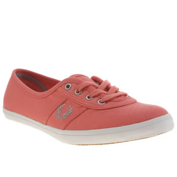 Womens Fred Perry Pink Aubrey Twill Trainers