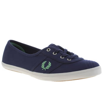 Womens Fred Perry Navy & Pl Blue Aubrey Twill Trainers
