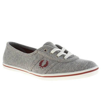 Womens Fred Perry Grey Aubrey Jersey Trainers