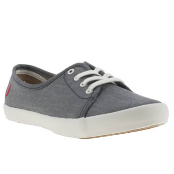 womens fred perry navy & red bell twill trainers