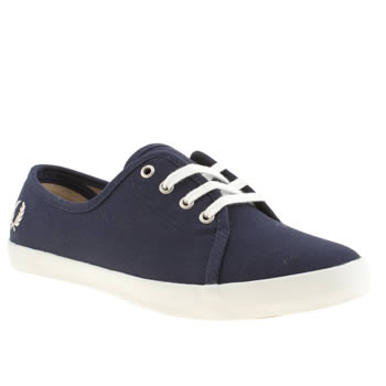 Womens Fred Perry Navy Bell Trainers