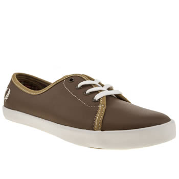 Fred Perry Tan Bell Twill Trainers