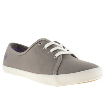 Fred Perry Dark Grey Bell Trainers