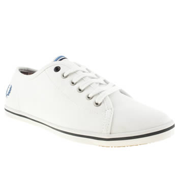 Fred Perry White & Blue Phoenix Vi Trainers