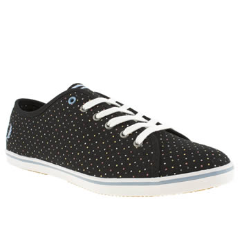 Womens Fred Perry Black and blue Phoenix Trainers
