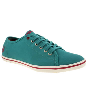 womens fred perry turquoise phoenix vi trainers