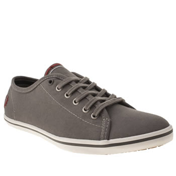 womens fred perry grey phoenix vi trainers