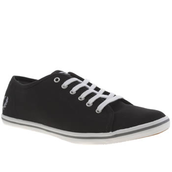 Womens Fred Perry Black & Silver Phoenix Canvas Trainers
