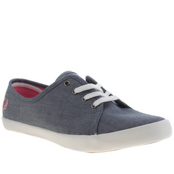 Womens Fred Perry Blue Bell Trainers