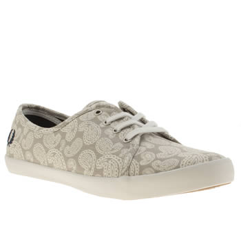 Fred Perry Light Grey Bell Ii Trainers