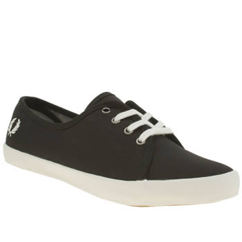 Womens Fred Perry Black & White Bell Trainers