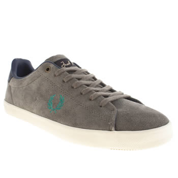 Fred Perry Grey Howells Suede Trainers