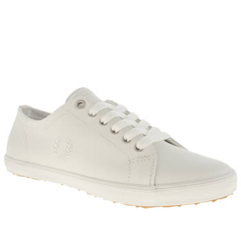 Womens Fred Perry White Kingston Leather Trainers
