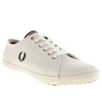 Womens Fred Perry White & Black Kingston Leather Trainers