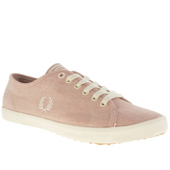 Fred Perry Red Kingston Washed Trainers