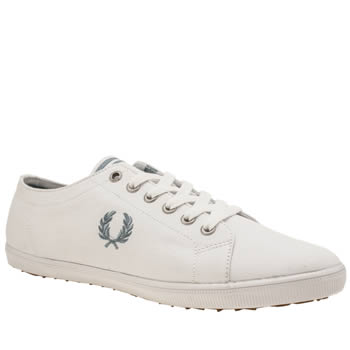 Fred Perry White & Blue Kingston Womens Trainers