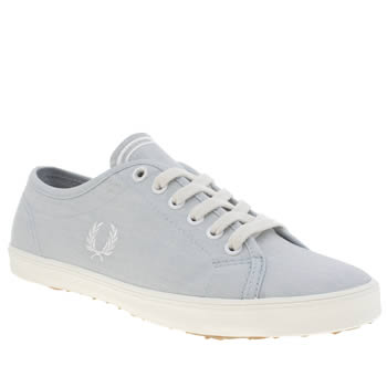 Womens Fred Perry Pale Blue Kingston Washed Trainers