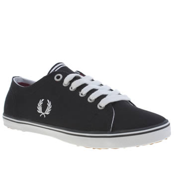 Womens Fred Perry Black & White Kingston Trainers