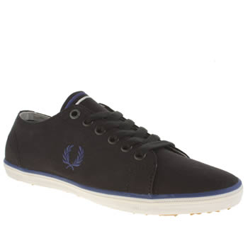 Fred Perry Black & Navy Kingston Twill Trainers