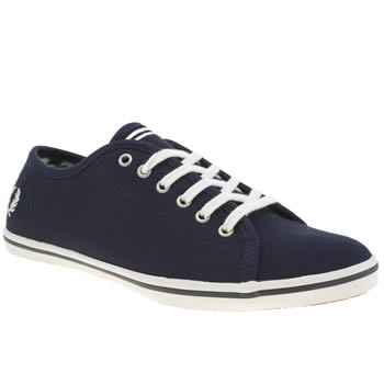Fred Perry Navy & White Phoenix Canvas Trainers