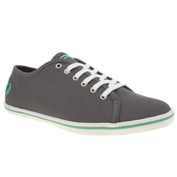 Womens Fred Perry Dark Grey Phoenix Canvas Trainers