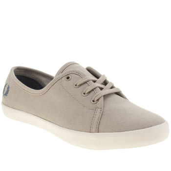 Fred Perry Grey Bell Twill Trainers