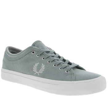 Fred Perry Pale Blue Kendrick Cuff Trainers