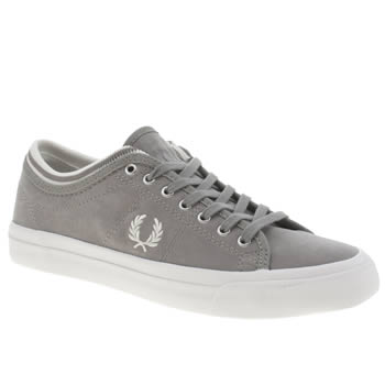 Fred Perry Grey Kendrick Cuff Trainers