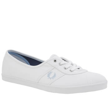 Fred Perry White & Pl Blue Aubrey Trainers