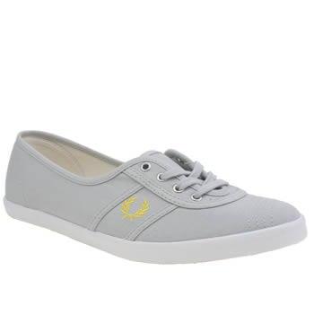 Fred Perry Light Grey Aubrey Trainers