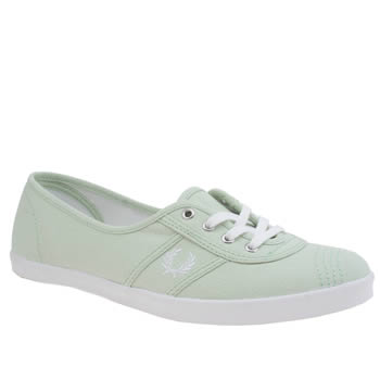 Fred Perry Light Green Aubrey Trainers