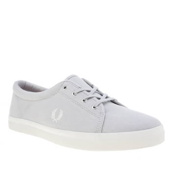 FRED PERRY LIGHT GREY AUBYN TRAINERS