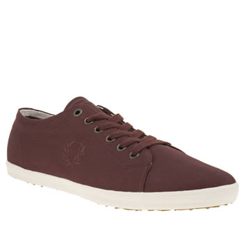 Fred Perry Burgundy Kingston Womens Trainers