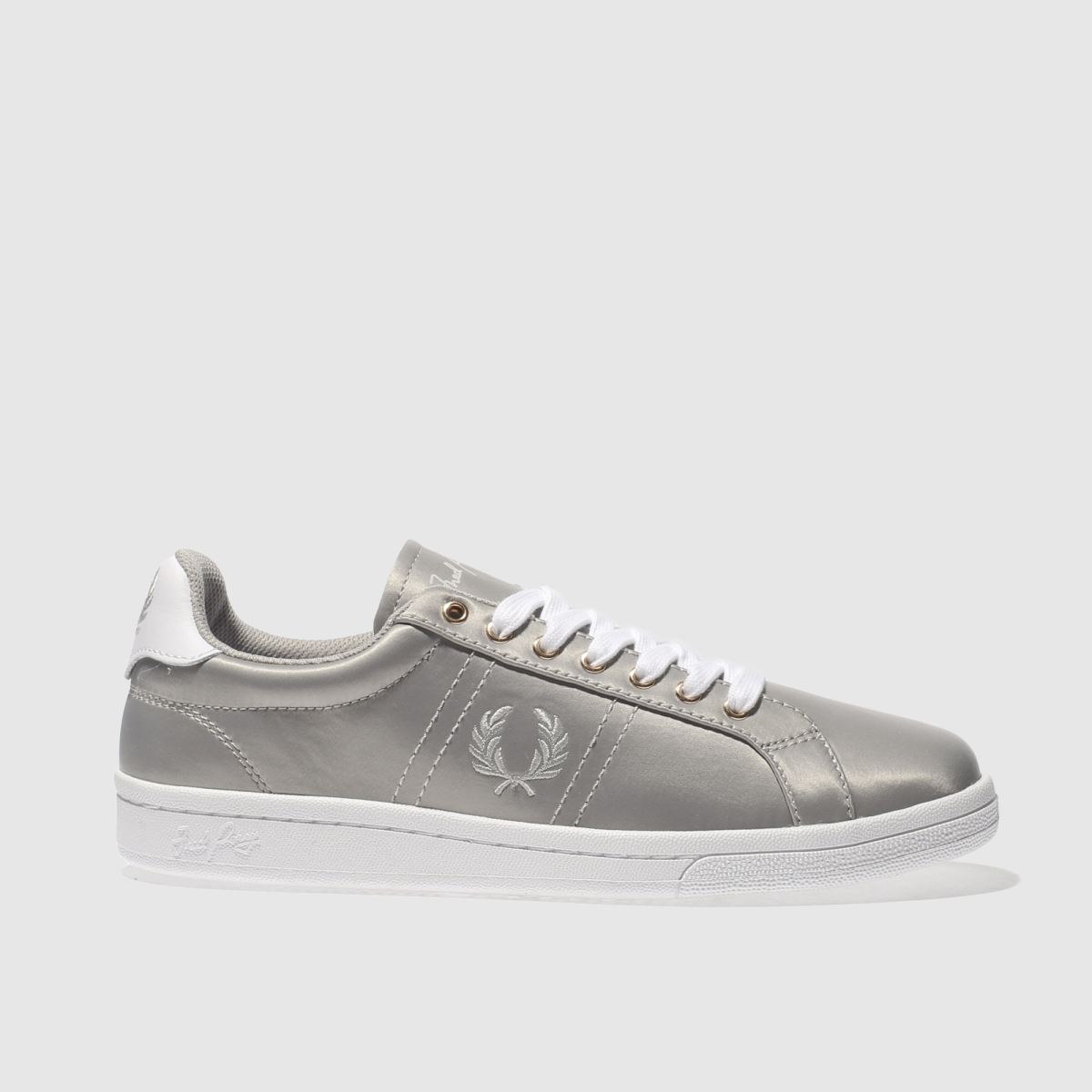fred perry grey b721 satin trainers