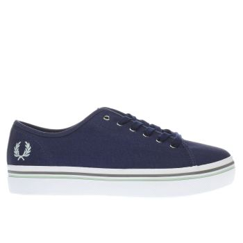Fred Perry Navy & White PHOENIX FLATFORM Trainers