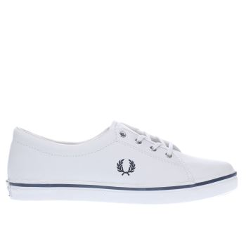 Fred Perry White & Navy Aubyn Trainers
