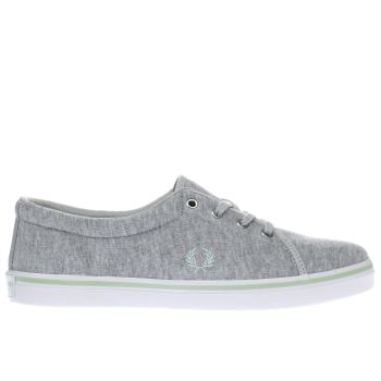 Fred Perry Light Grey Aubyn Womens Trainers
