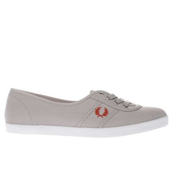 Fred Perry Light Grey Aubrey Twill Trainers