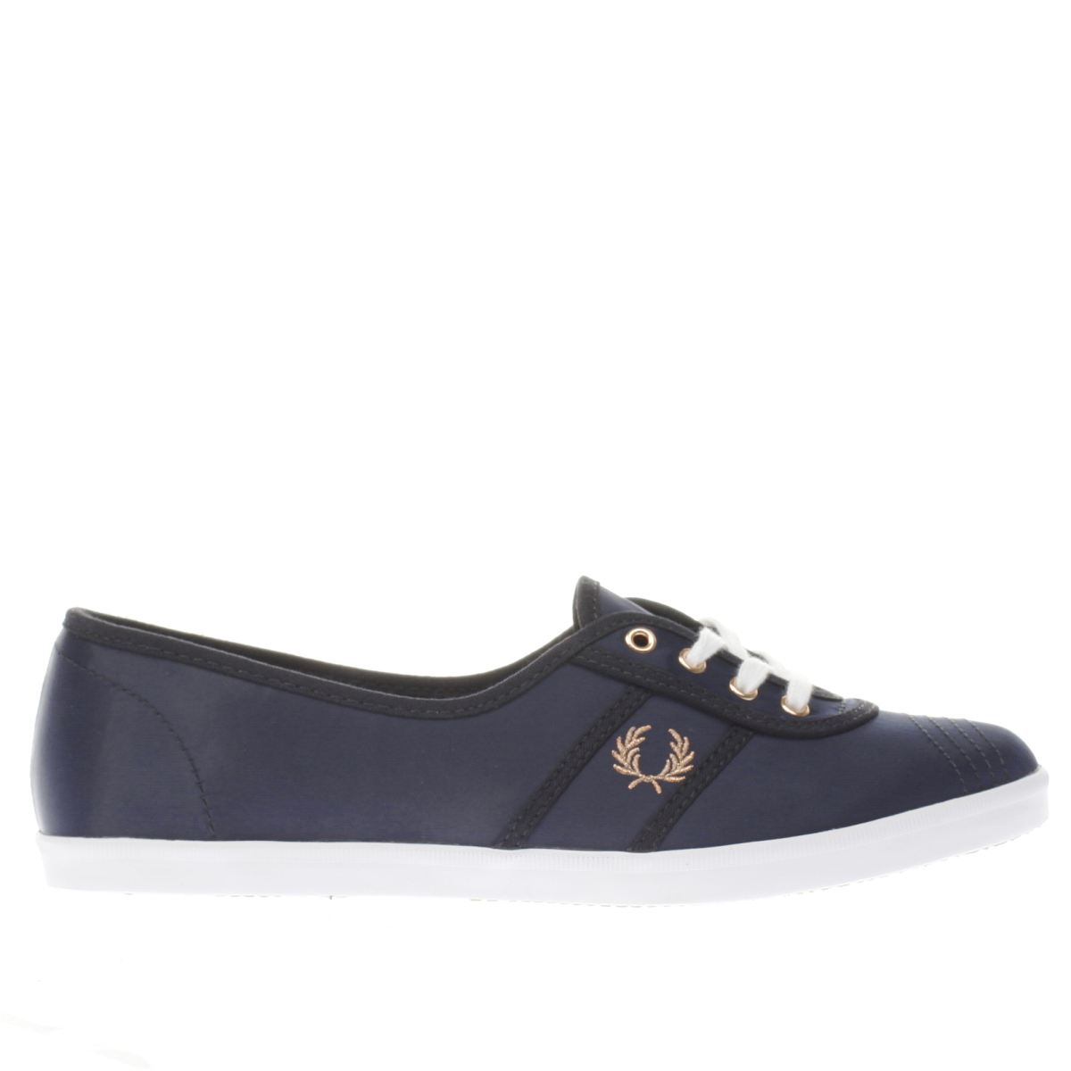 fred perry navy & white aubrey trainers