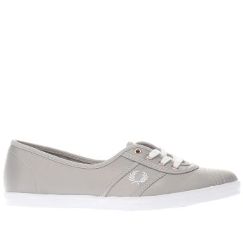 Fred Perry Grey Aubrey Womens Trainers