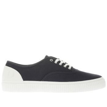 Fred Perry Navy Barson Canvas Womens Trainers
