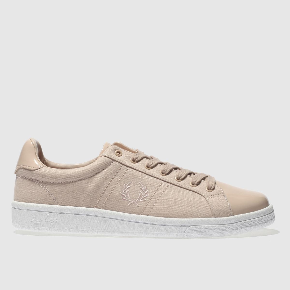 Fred Perry Pale Pink B721 Canvas Trainers