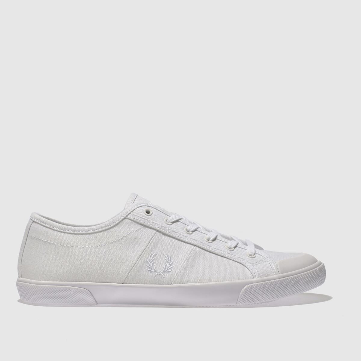 Fred Perry White Ellerton Canvas Trainers