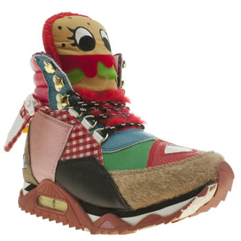 Iced By Irregular Choice Multi Burger Off Trainers